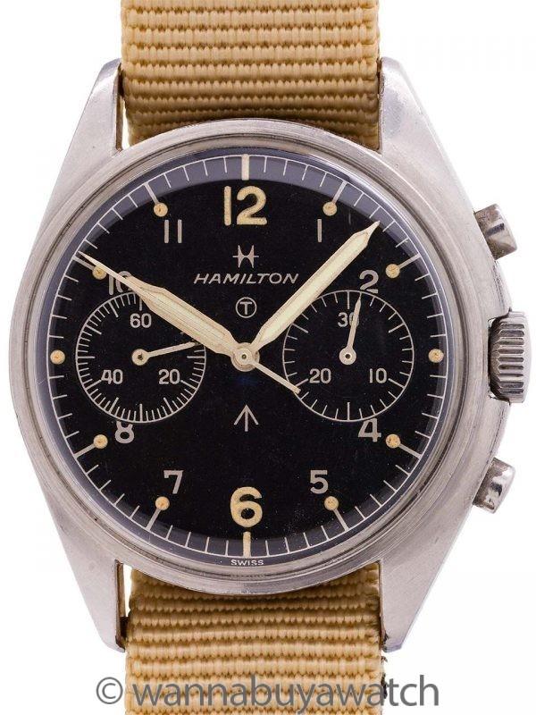 Hamilton British Royal Navy Chronograph circa 1970