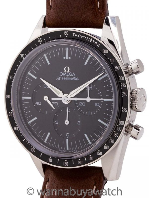 """Omega Speedmaster """"First Omega In Space"""" Reissue circa 2012 B&P"""