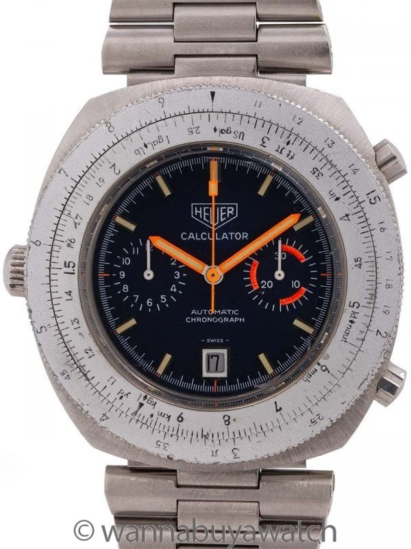 Heuer Calculator Chronograph ref 110.633 circa 1977