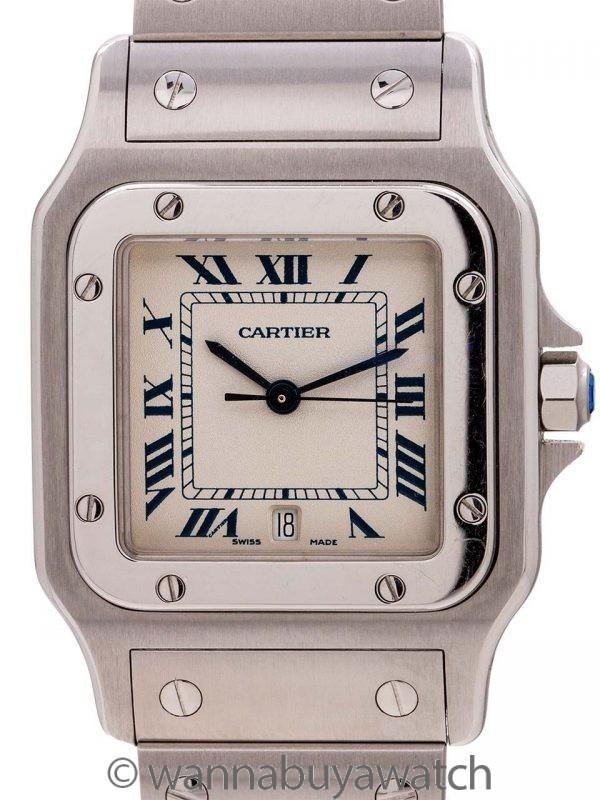 Cartier Santos Galbe Stainless Steel ref 1564 circa 1999