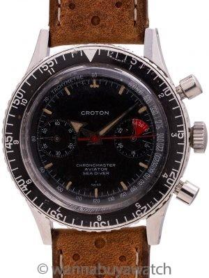 """Croton """"Chronomaster Aviator Sea Diver"""" Chronograph circa 1960's"""