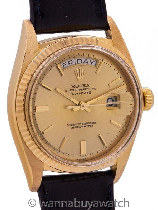 Rolex 18K YG Day Date ref# 1803 circa 1968