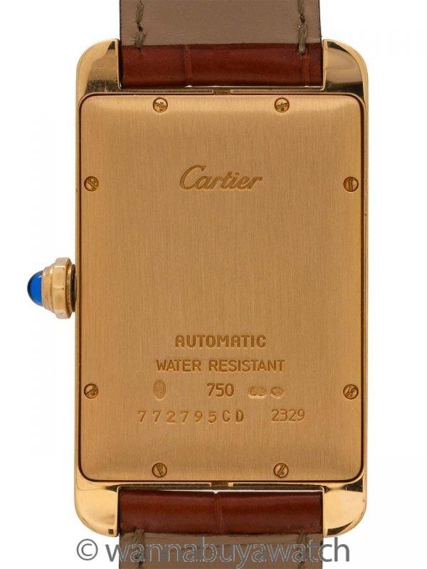 Cartier Tank American XL 18K YG Automatic circa 1990's