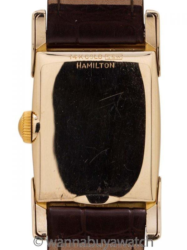 Hamilton Scott 14K YG Hooded Lugs circa 1950's