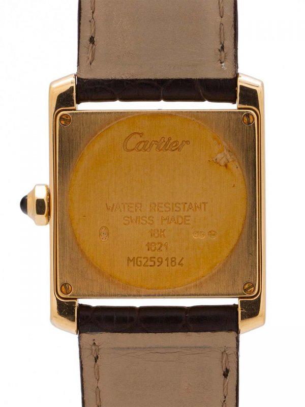 Cartier Tank Francaise Midsize 18K YG Strap & Buckle circa 2010+