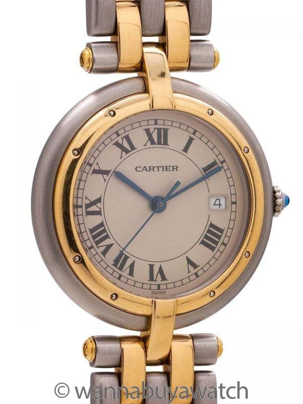 Cartier Man's Vendome Panther SS/18K YG circa 2000's