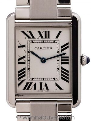 Cartier Man's Tank Solo Stainless Steel on Bracelet