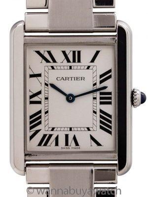Cartier Man's Tank Solo Stainless Steel ref 3169 on Bracelet circa 2010+