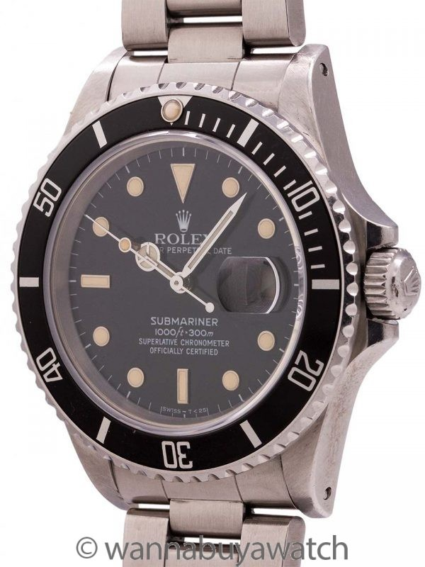 Rolex Submariner ref# 16800 Transitional Model circa 1986