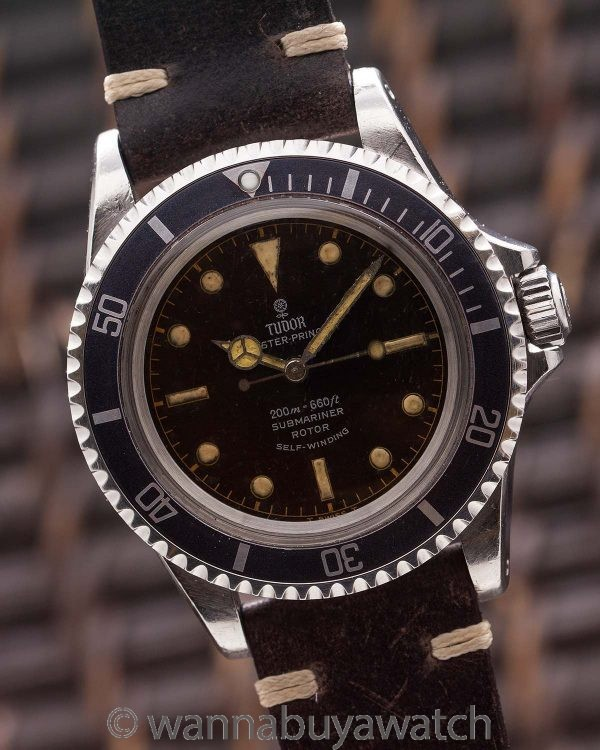 Tudor ref 7928 Submariner Gilt Tropical Dial circa 1966