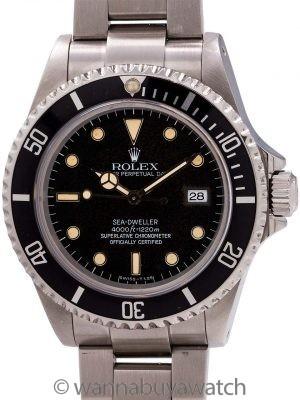 Rolex Sea-Dweller SS ref 16600 Tritium circa 1997