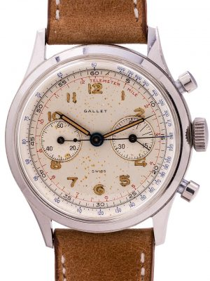 Gallet Excelsior Park Oversize Manual Wind Chronograph circa 1950