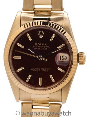 Rolex Midsize Datejust ref 6827 14K YG circa 1982