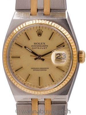 Rolex Datejust ref 17013 SS & 18K Oyster Quartz circa 1986