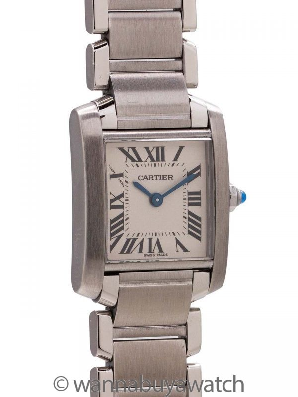Cartier Lady's Tank Francaise Stainless Steel circa 2000's