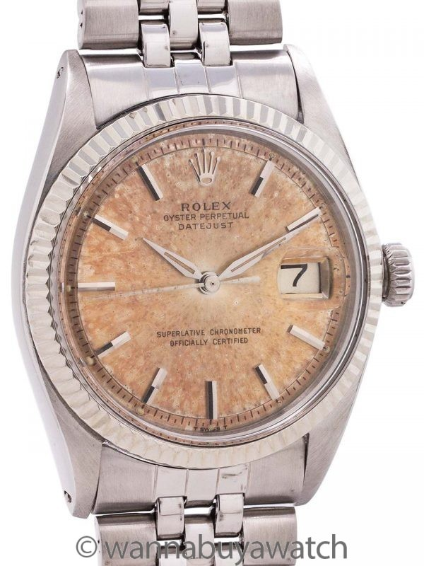 "Rolex Datejust ref 1601 Stainless Steel ""Tropical Peach"" circa 1962"