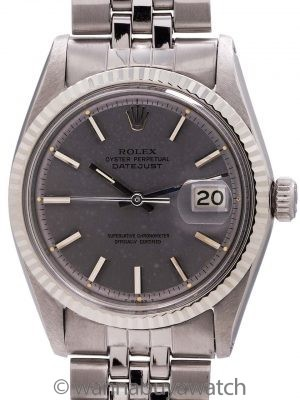 Rolex Datejust ref 1601 Stainless Steel Gray Pie Pan Dial circa 1968