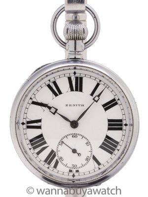 Zenith Enamel Dial Pocket Watch circa 1924