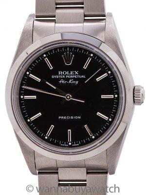 Rolex Airking ref 14000 Black Dial circa 2003