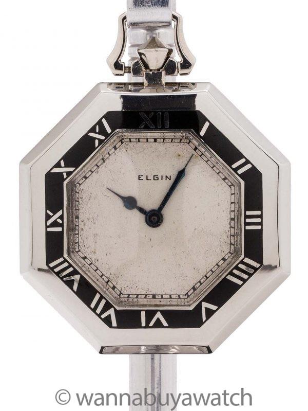 Elgin Pocket Watch Art Deco circa 1930's