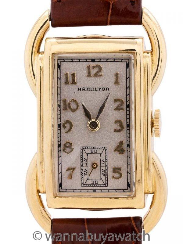 """Hamilton 14K YG """"Bentley"""" circa 1939"""