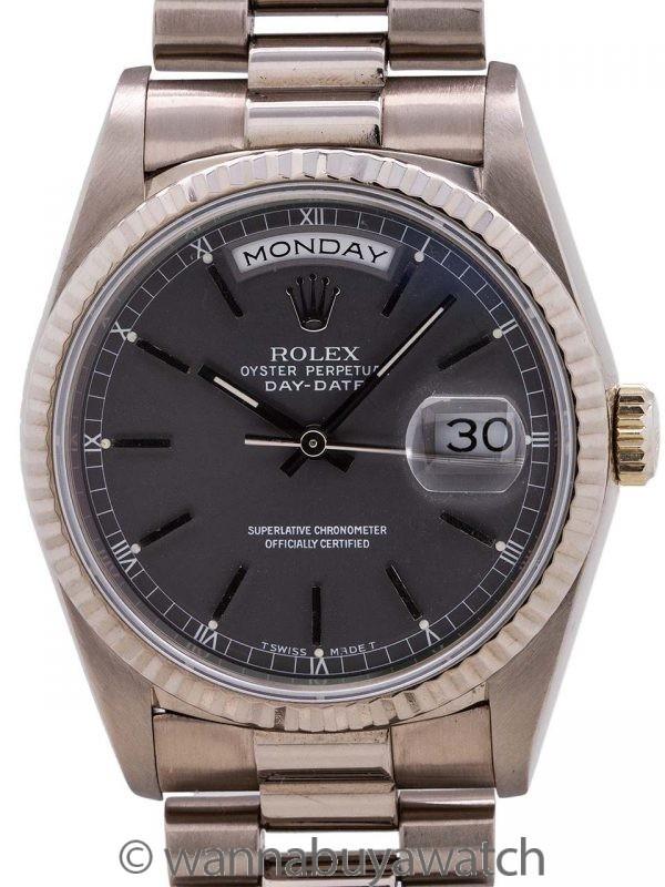 Rolex Day Date President ref# 18239 18K WG Gray Dial circa 1990