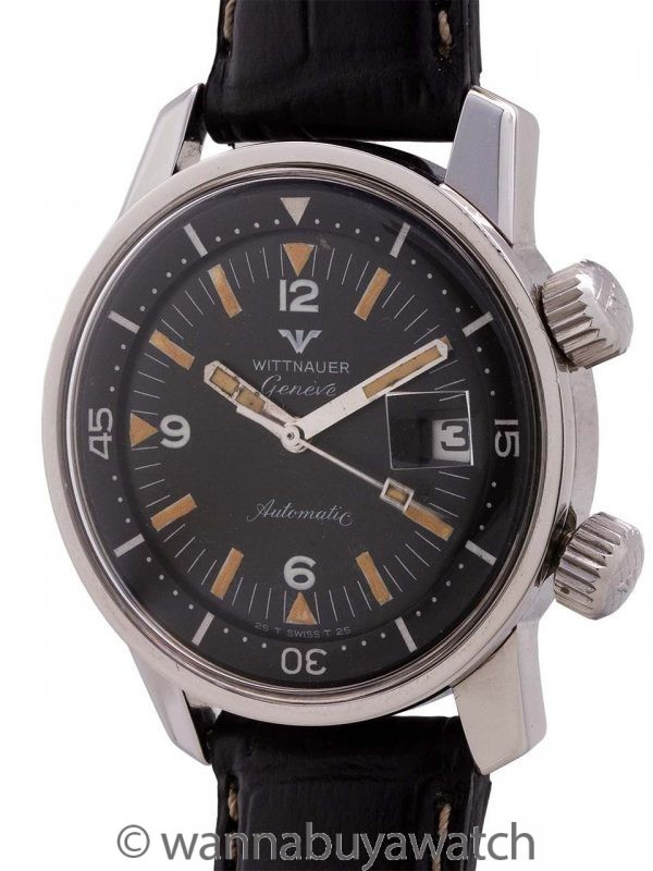 Wittnauer Diver's Super Compressor Stainless Steel circa 1960's