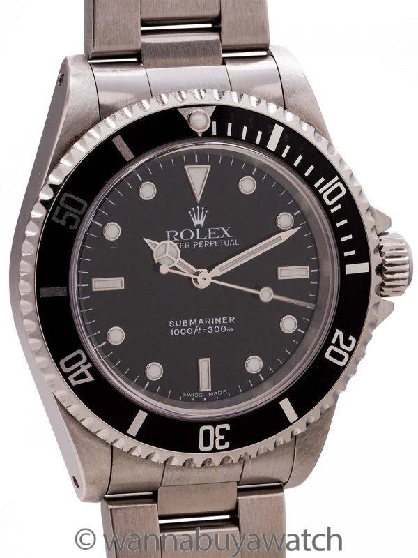 Rolex Submariner ref 14060 Stainless Steel circa 2002