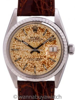 """Rolex Datejust ref 1601 Stainless Steel Tropical """"Freckles"""" circa 1968"""