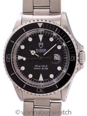 Tudor Stainless Steel Mini-Sub ref 73090 circa 1991
