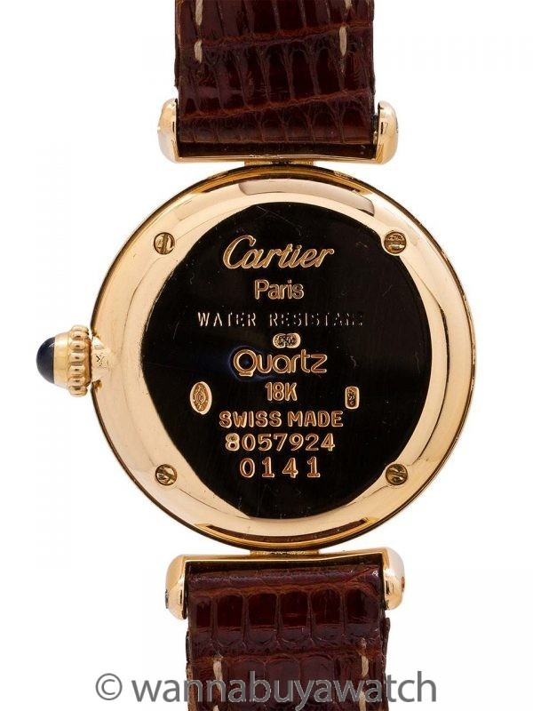 Cartier Lady Colisee 18K YG Quartz circa 1990's