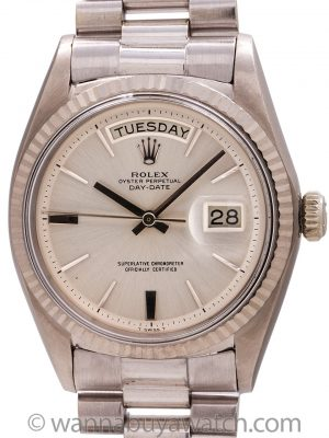 """Rolex Day Date President ref 1803 """"Door Stop Dial"""" 18K WG circa 1977"""