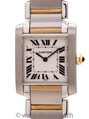 Cartier Tank Francaise MIdsize SS/18K YG circa 2000