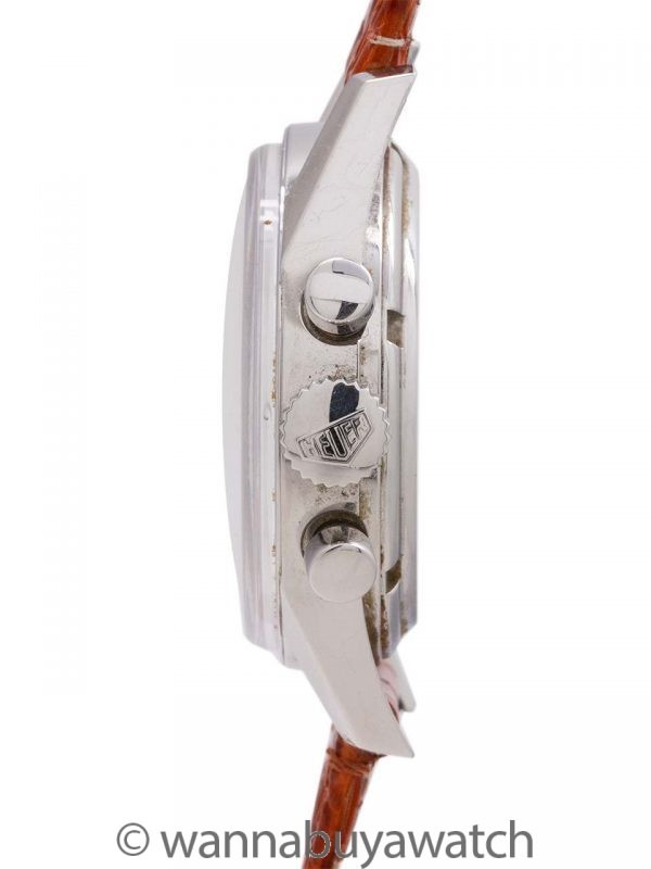 Heuer Carrera Classic 1964 Reissue Rare Salmon Dial circa 1990's w/ Card