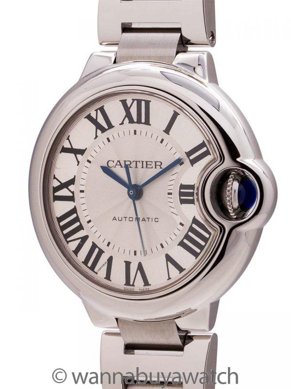 Cartier SS Ballon Bleu Midsize Automatic circa 2000s