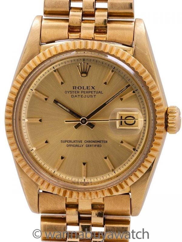Rolex 18K YG Datejust ref 1601 circa 1978