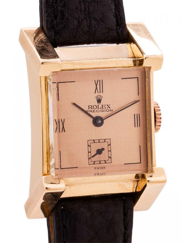 Rolex 18K PG Dress Model French Case circa 1940's