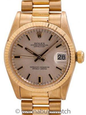 Rolex Midsize Datejust ref 6828 18K YG circa 1979 MINT!