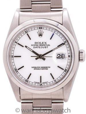 Rolex SS Datejust ref # 16200 circa 1997