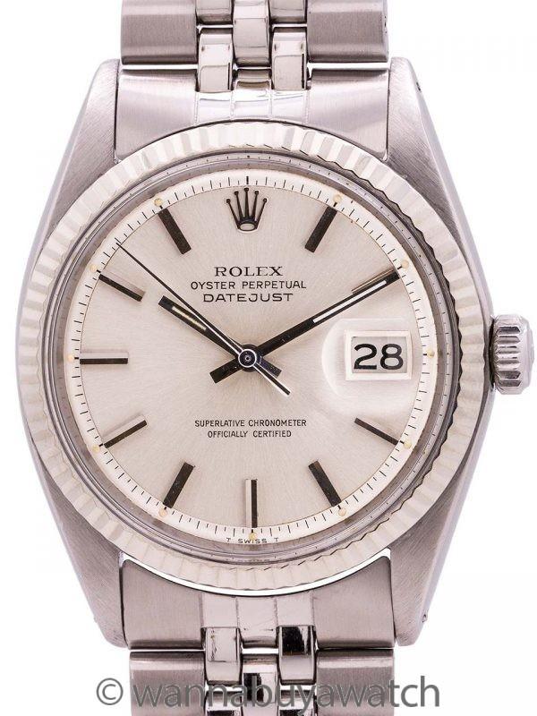Rolex SS Datejust ref 1601 Steel & 14K WG circa 1971