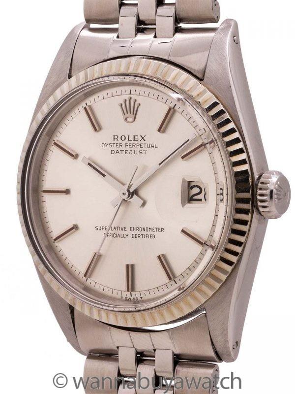 Rolex SS Datejust ref 1601 Steel & 14K WG circa 1966