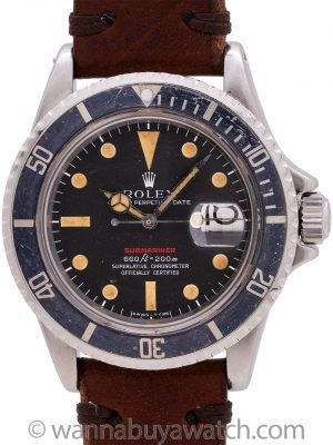 "Rolex Red Submariner Ref. 1680 Mak V Dial circa 1971 ""Ghost Bezel"""