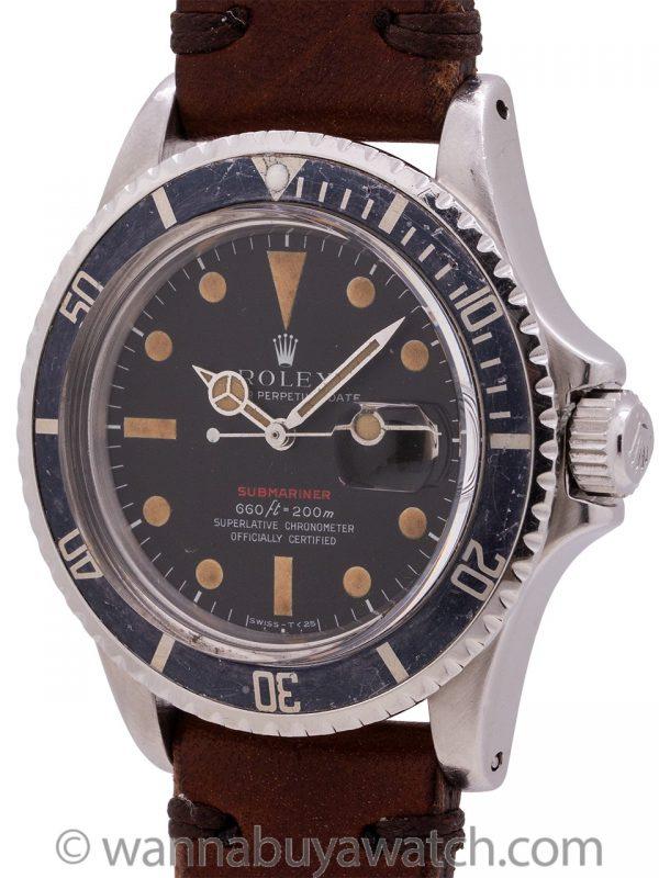 """Rolex Red Submariner Ref. 1680 Mak V Dial circa 1971 """"Ghost Bezel"""""""