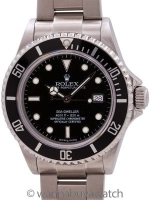 Rolex Sea-Dweller ref# 16600 Stainless Steel circa 2003 B & P
