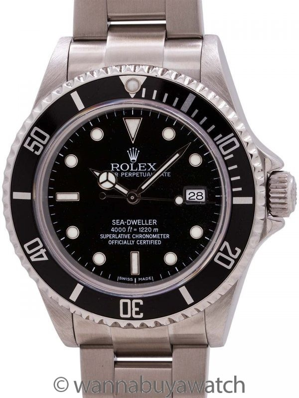 Rolex Sea-Dweller ref# 16600 Stainless Steel circa 2003 B & P
