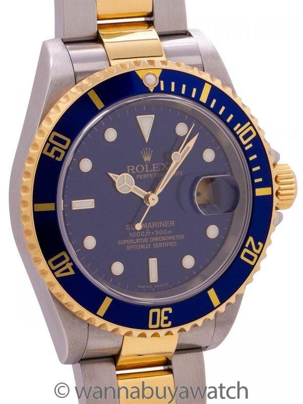 Rolex Submariner 16613 SS/18K YG B&P circa 1997