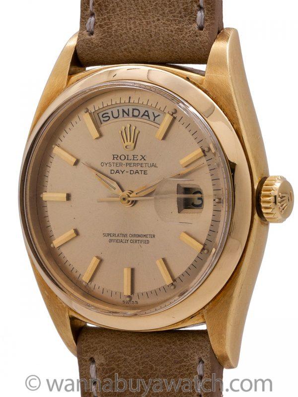 Rolex 18K YG Day Date Rare ref# 1802 circa 1962