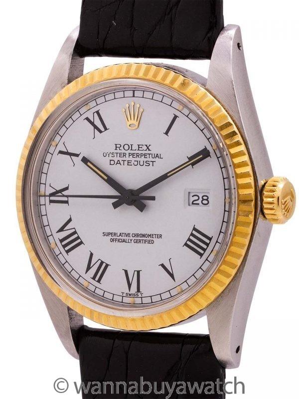 "Rolex SS Datejust ref# 16013 SS/14K YG circa 1983 ""Buckley"" Dial"