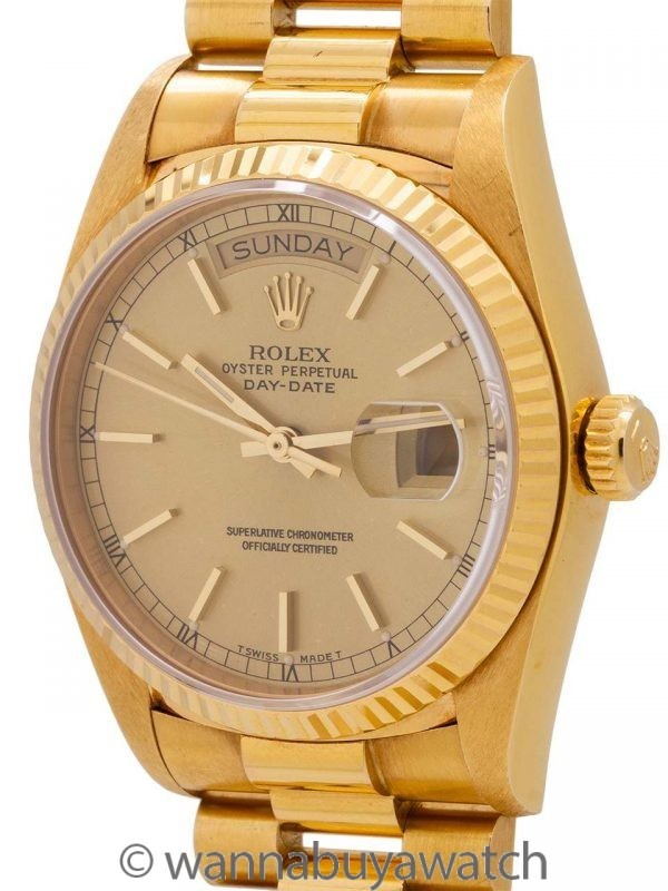 Rolex Day Date ref 18038 18K YG circa 1985