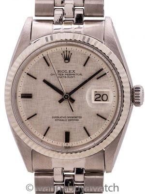 "Rolex Datejust Stainless Steel ref 1601 ""Linen Dial"" circa 1967"